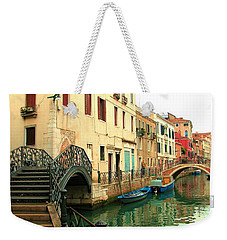 Winding Through The Watery Streets Of Venice Weekender Tote Bag by Barbie Corbett-Newmin