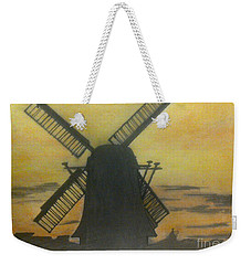 Windmill At Sunset Weekender Tote Bag