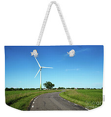 Weekender Tote Bag featuring the photograph Windmill By A Country Road Side by Kennerth and Birgitta Kullman