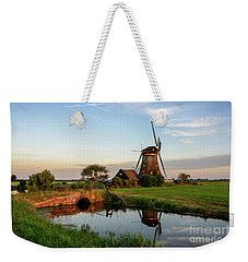 Windmill In The Countryside In Holland Weekender Tote Bag by IPics Photography