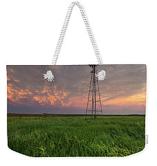Weekender Tote Bag featuring the photograph Windmill Mammatus by Aaron J Groen