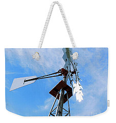 Weekender Tote Bag featuring the photograph Windmill - Mildly Cloudy Day by Ray Shrewsberry