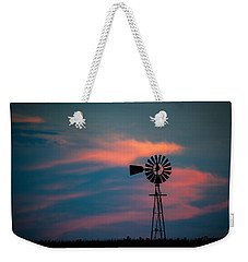 Windmill Sunset Weekender Tote Bag