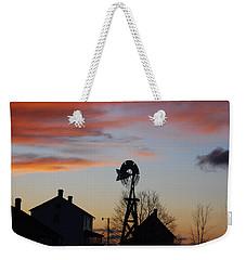 Windmill Sunset Weekender Tote Bag
