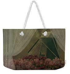 Windmill Through Laced Curtain Weekender Tote Bag by Jeff Burgess