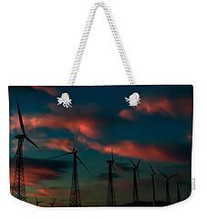 Windmills At Sunrise Weekender Tote Bag