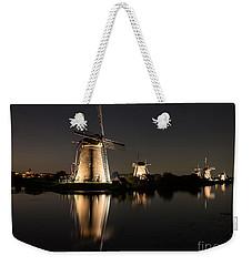 Windmills Illuminated At Night Weekender Tote Bag