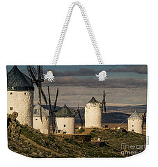 Weekender Tote Bag featuring the photograph Windmills Of La Mancha by Heiko Koehrer-Wagner