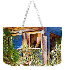 Weekender Tote Bag featuring the photograph Window 2 by Susan Kinney