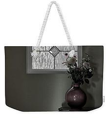 Window And Flowers In Vase Weekender Tote Bag