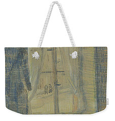 Weekender Tote Bag featuring the painting Window In The Bataille Restaurant Paris, February - March 1887 Vincent Van Gogh 1853 - 1890 by Artistic Panda