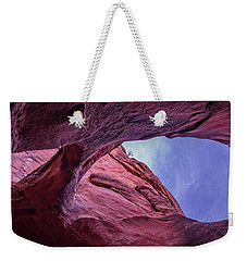 Weekender Tote Bag featuring the photograph Window In To The Sky by Edgars Erglis