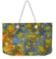 Weekender Tote Bag featuring the painting Window Into Summer Ink #17 by Sarajane Helm