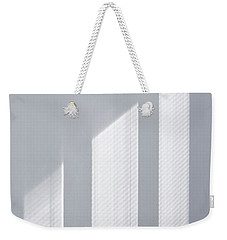 Weekender Tote Bag featuring the photograph Window Light Reverie - Silver by Menega Sabidussi
