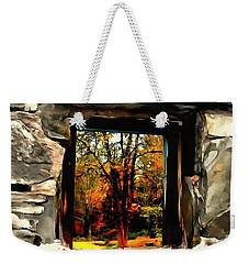 Window Of Hope - Stone Wall Window View Weekender Tote Bag
