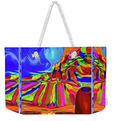 Window On Santa Fe Weekender Tote Bag