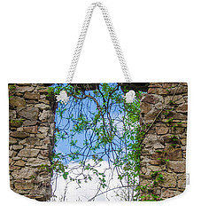 Weekender Tote Bag featuring the photograph Window Ruin At Bridgetown Millhouse Bucks County Pa by Bill Cannon