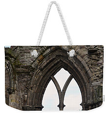 Window Ruins At Holyrood Abbey Weekender Tote Bag by DejaVu Designs
