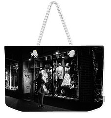 Window Shopping In Black And White Weekender Tote Bag