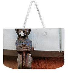 Weekender Tote Bag featuring the photograph Window Shutter Holder by Elena Elisseeva
