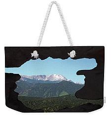 Window To Pikes Peak Weekender Tote Bag