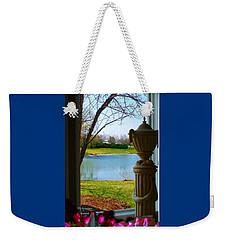 Window View Pond Weekender Tote Bag