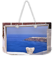 Window View To The Mediterranean Weekender Tote Bag