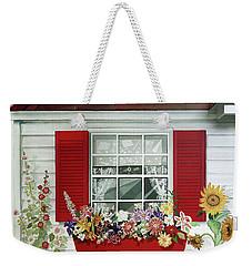 Windowbox With Cat Weekender Tote Bag