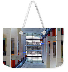 Weekender Tote Bag featuring the photograph Windows by Brian Jones