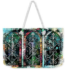 Weekender Tote Bag featuring the photograph Windows De Mesilla by Barbara Chichester