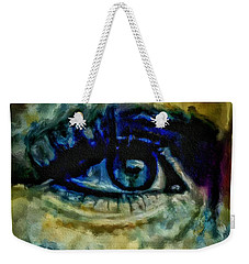 Windows Into The Soul Eye Painting Closeup All Seeing Eye In Blue Pink Red Magenta Yellow Eye Of Go Weekender Tote Bag