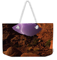 Weekender Tote Bag featuring the photograph Windows Storm by Darren White