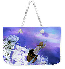 Weekender Tote Bag featuring the painting Winds Of Fate  by Rene Capone