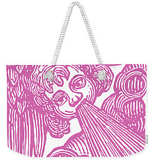 Weekender Tote Bag featuring the drawing Winds Tess by Edward Fielding
