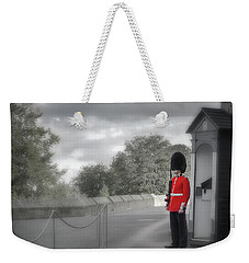 Weekender Tote Bag featuring the photograph Windsor Castle Guard by Joe Winkler
