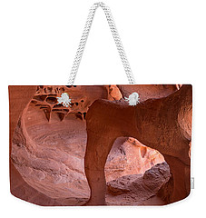 Weekender Tote Bag featuring the photograph Windstone Arch by Patricia Davidson