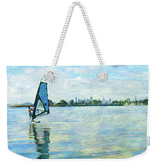 Windsurfing In The Bay Weekender Tote Bag