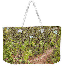 Weekender Tote Bag featuring the photograph Windswept Hammock by John M Bailey