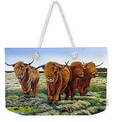 Windswept Highland Cattle  Weekender Tote Bag