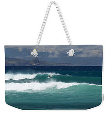 Weekender Tote Bag featuring the photograph Windswept Ho'okipa by Susan Rissi Tregoning