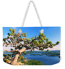 Windswept Pine On Rattlesnake Mountain Weekender Tote Bag by Roupen  Baker