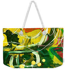 Weekender Tote Bag featuring the painting Windswept V by Angela L Walker