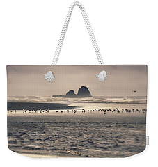 Weekender Tote Bag featuring the photograph Windy Balmy Day At The Beach by Tikvah's Hope