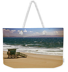 Weekender Tote Bag featuring the photograph Windy Beach Day by Joseph Hollingsworth