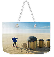 Weekender Tote Bag featuring the photograph Windy Beach by Hans Engbers