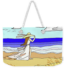 Windy Day At The Beach Weekender Tote Bag by Patricia L Davidson