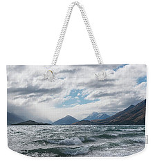Weekender Tote Bag featuring the photograph Windy Day On Lake Wakatipu by Gary Eason