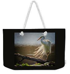 Windy Egret  Weekender Tote Bag