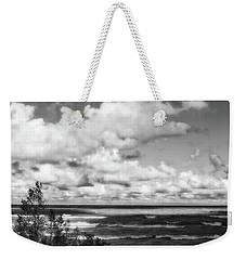 Weekender Tote Bag featuring the photograph Windy Morning On Lake Michigan by Michelle Calkins