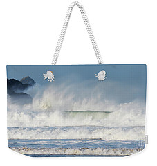 Windy Seas In Cornwall Weekender Tote Bag